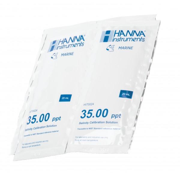 Hanna HI70024P Kalibrierlösung 35,00ppt, 25 x 20mL-Beutel