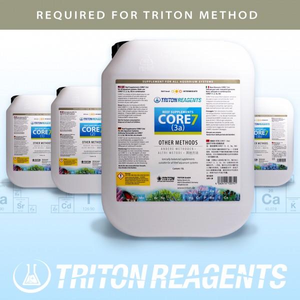 Triton Core 7 Bulk Liquid SET Reef Supplements 4x5Liter (flüssig) für andere Methoden