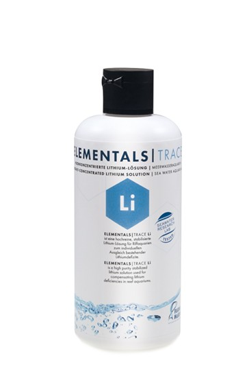 ELEMENTALS TRACE Li 250ml Hochkonzentrierte Lithium-Lösung für Meerwasseraquarien